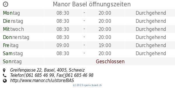 manor basel öffnungszeiten heute
